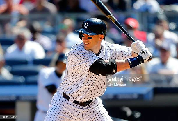Travis Hafner of the New York Yankees in action against the Oakland Athletics at Yankee Stadium on May 4 2013 in the Bronx borough of New York City...