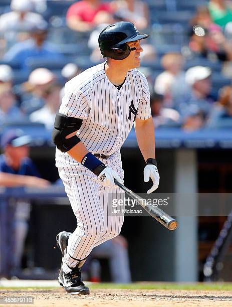 Travis Hafner of the New York Yankees in action against the Tampa Bay Rays at Yankee Stadium on June 22 2013 in the Bronx borough of New York City...