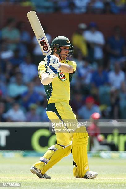 Travis Head of Australia bats during game five of the One Day International series between Australia and Pakistan at Adelaide Oval on January 26 2017...