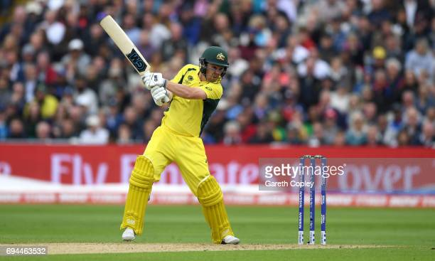 Travis Head of Australia bats during the ICC Champions Trophy match between England and Australia at Edgbaston on June 10 2017 in Birmingham England
