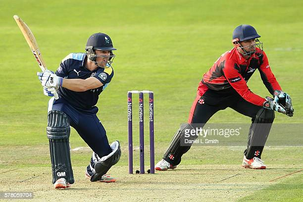 Travis Head of Yorkshire Vikings bats during the NatWest T20 Blast match between Yorkshire Vikings and Durham Jets at Headingley on July 20 2016 in...