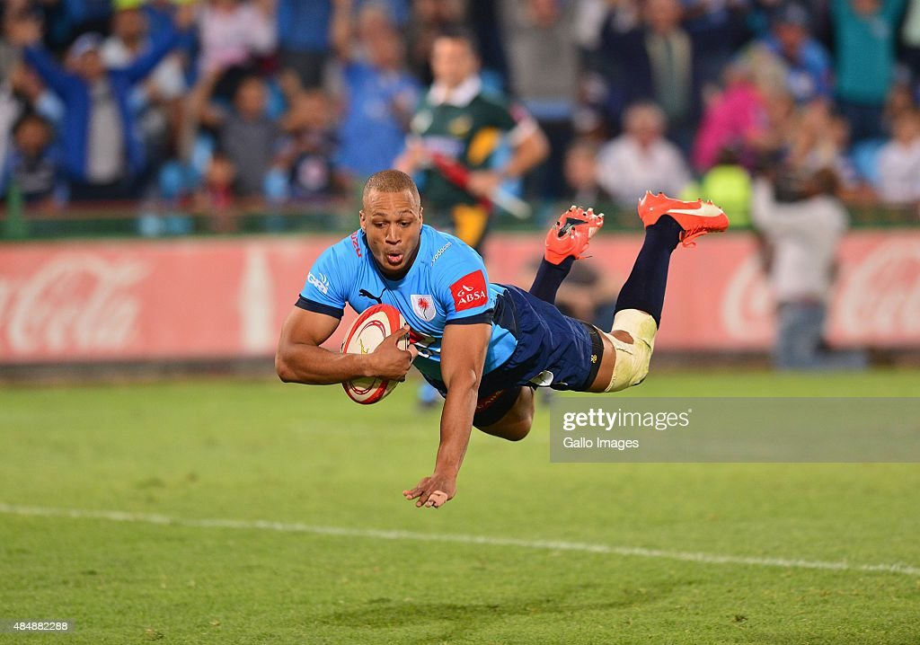 Travis Ismaiel of the Blue Bulls during the Absa Currie Cup match between Vodacom Blue Bulls and DHL Western Province at Loftus Versfeld on August 22...