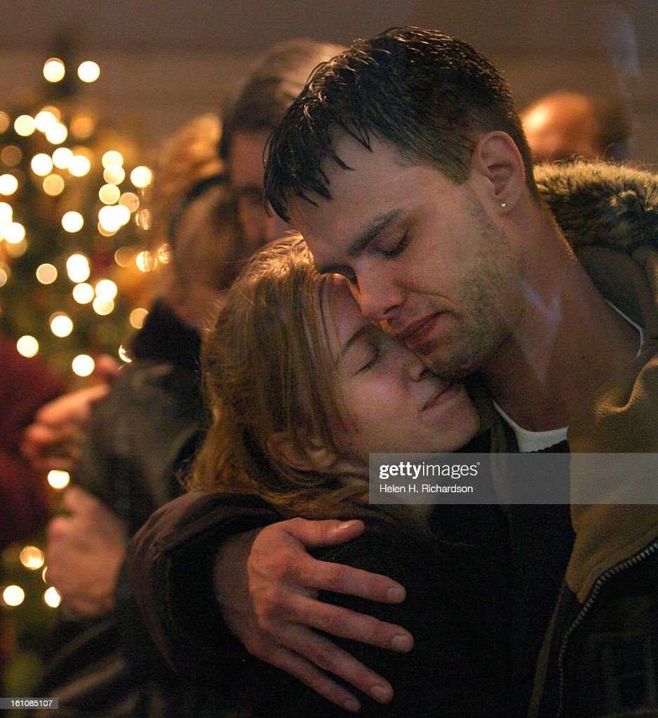 <b>Travis Johnson</b> gets a big hug from his cousin Alyssa Ronchak &lt;cq&gt;. Travis - travis-johnson-gets-a-big-hug-from-his-cousin-alyssa-ronchak-cq-is-picture-id161085107