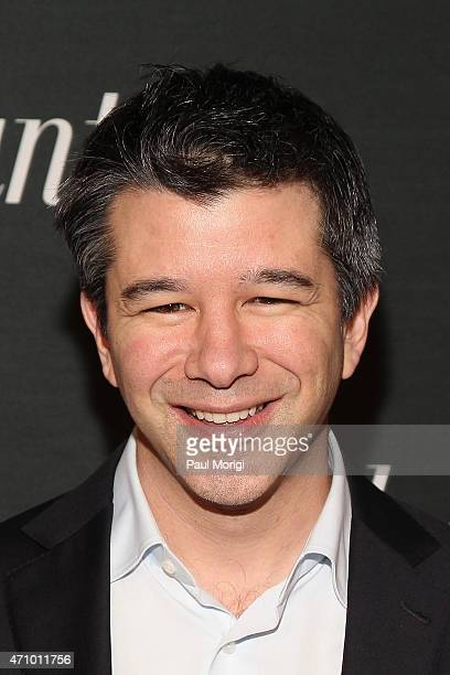 Travis Kalanick attends Google and the Atlantic White House correspondents' party at Constitution Gardens on the National Mall on April 24 2015 in...