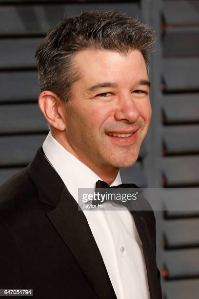 Travis Kalanick attends the 2017 Vanity Fair Oscar Party at Wallis Annenberg Center for the Performing Arts on February 26 2017 in Beverly Hills...