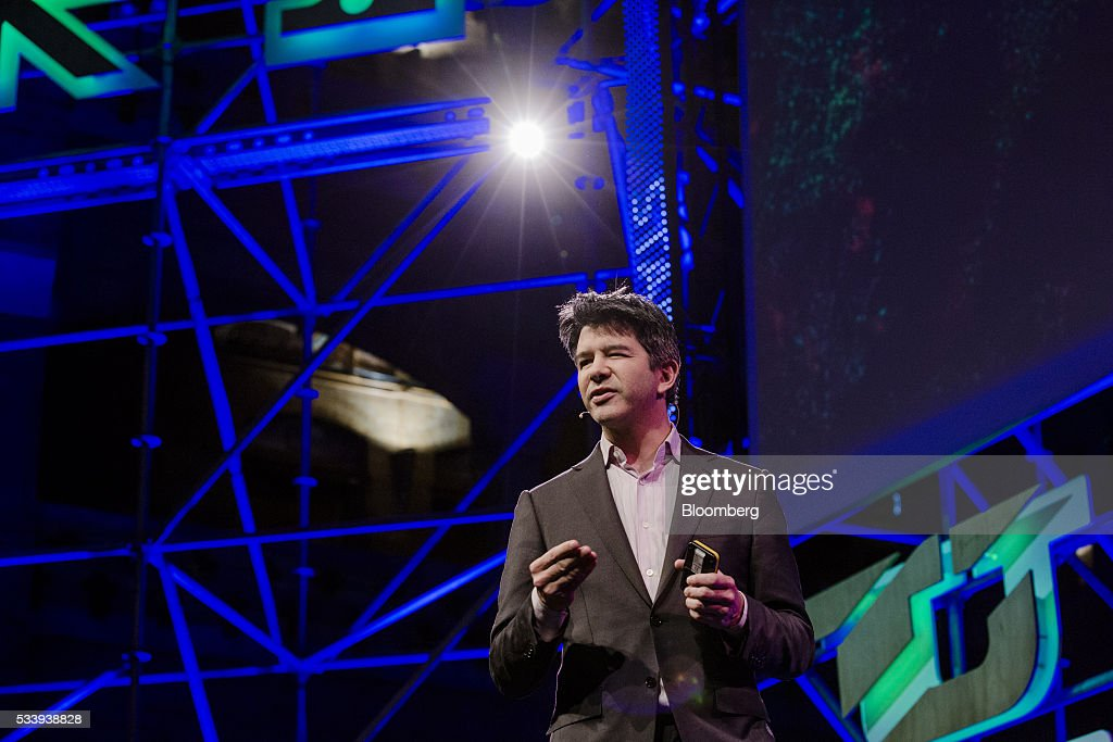 <a gi-track='captionPersonalityLinkClicked' href=/galleries/search?phrase=Travis+Kalanick&family=editorial&specificpeople=7808244 ng-click='$event.stopPropagation()'>Travis Kalanick</a>, billionaire and chief executive officer of Uber Technologies Inc., speaks during the opening of 'Startup Fest', a five-day conference to showcase Dutch innovation, in Amsterdam, Netherlands, on Tuesday, May 24, 2016. The Digital City Index for 2015 ranked Amsterdam Europe's second-best city, behind London, for tech startups. Photographer: Marlene Awaad/Bloomberg via Getty Images