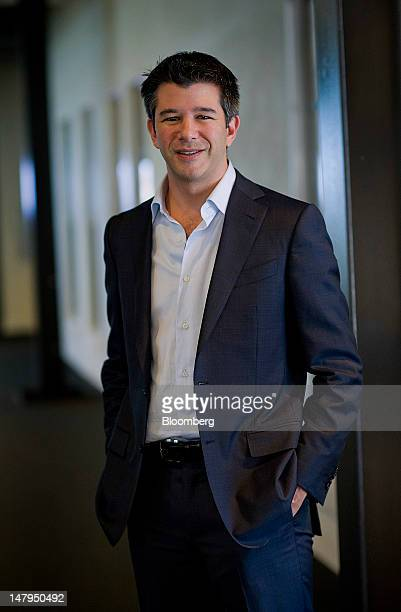 Travis Kalanick chief executive officer at Uber Technologies Inc stands for a photograph after a Bloomberg West television interview in San Francisco...