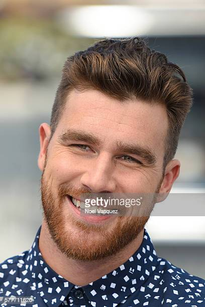 Travis Kelce visits 'Extra' at Universal Studios Hollywood on July 19 2016 in Universal City California