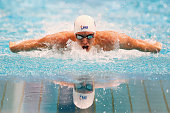 Travis Mahony competes in Men's 400 Metre Individual Medley during day eight of the Australian National Swimming Championships at Sydney Olympic Park...