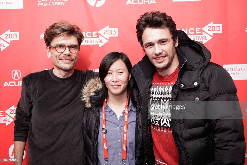 Travis Mathews, Kim Yutani and <a gi-track='captionPersonalityLinkClicked' href=/galleries/search?phrase=James+Franco&family=editorial&specificpeople=577480 ng-click='$event.stopPropagation()'>James Franco</a> attend 'Interior. Leather Bar' premiere during the 2013 Sundance Film Festival at Prospector Square on January 19, 2013 in Park City, Utah.