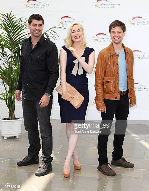 Travis Milne Charlotte Sullivan and Gregory Smith attend Photocall for 'Rookie Blue' during the 51st Monte Carlo TV Festival on June 9 2011 in Monaco...