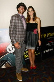 Travis Pastrana and Jolene Van Vugt attend the 'Nitro Circus The Movie 3D' press event held at LA LIVE on August 7 2012 in Los Angeles California