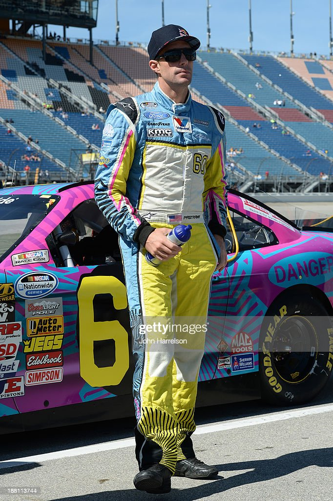 Travis Pastrana, driver of the #60 Roush Fenway Racing Ford, during the NASCAR Nationwide Series Dollar General 300 Powered by Coca-Cola at Chicagoland Speedway on September 14, 2013 in Joliet, Illinois.