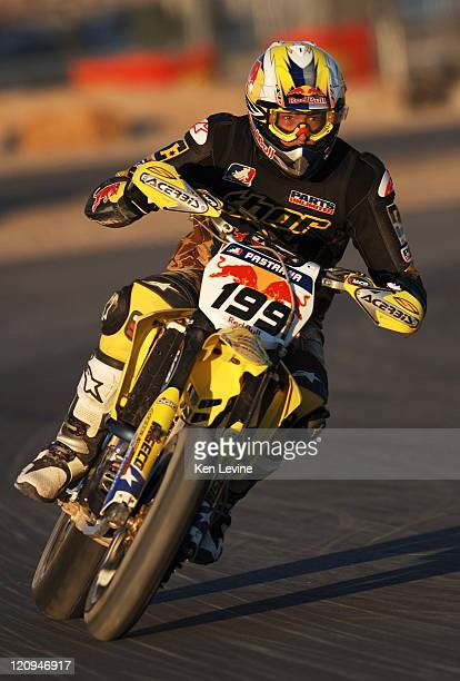 Travis Pastrana finishes in 8th place in the AMA SuperMoto Championship race at Miller Motorsports Park in Tooele Utah Saturday June 17 2006