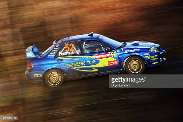 Travis Pastrana of the USA and Subaru in action during the Shakedown stage for the 2007 FIA Wales Rally GB on November 29 2007 in Penllergaer Forest...