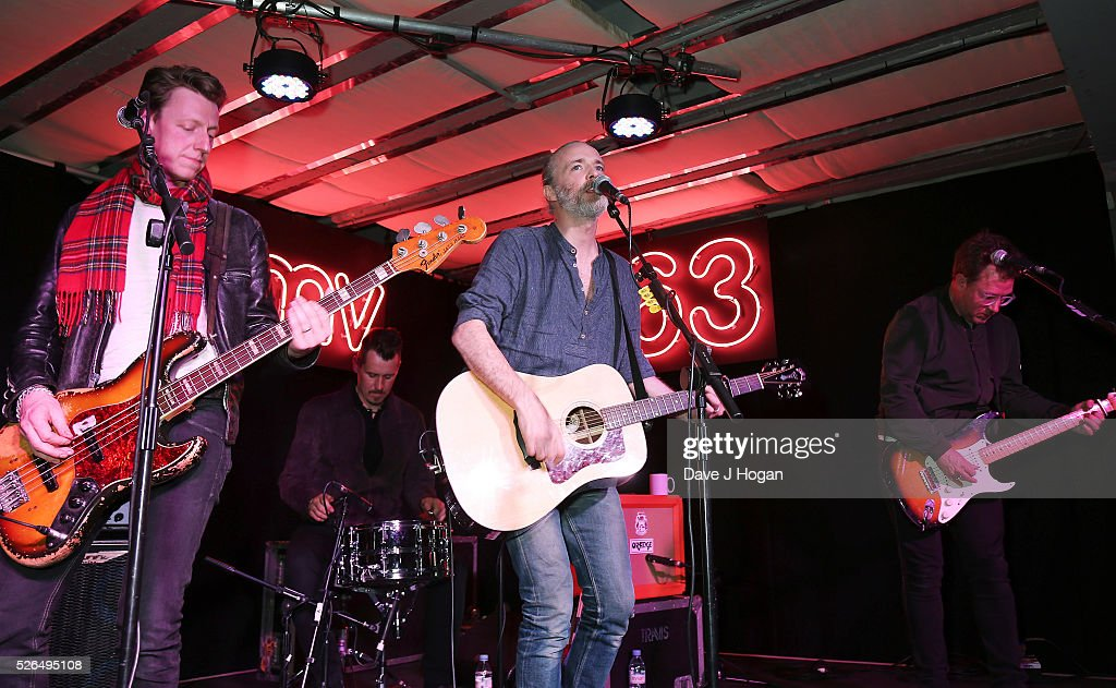 Travis perform songs from their new album 'Everything At Once' at HMV Oxford Street on April 30, 2016 in London, England.