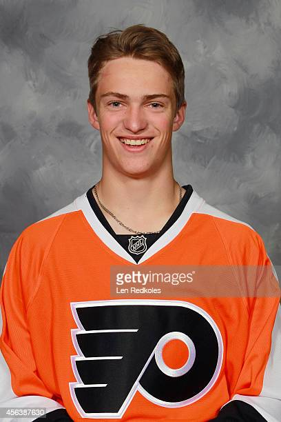 Travis Sanheim of the Philadelphia Flyers poses for his official headshot for the 20142015 season on July 10 2014 at the Virtua Flyers Skate Zone in...