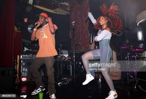 Travis Scott and SZA perform at The Box on October 10 2017 in New York City