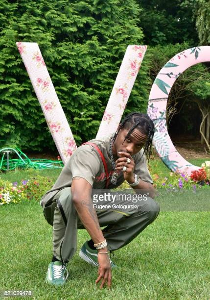 Travis Scott attends the FIJI Water at #REVOLVEintheHamptons 2017 on July 22 2017 in Bridgehampton New York