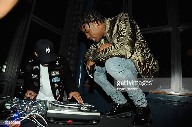 Travis Scott performs at the GQ Fashion Week Party At The Wythe Hotel on September 9 2014 in Brooklyn New York