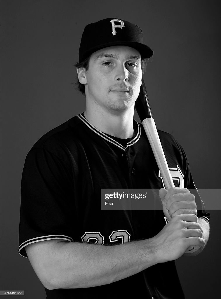 Travis Snider #23 of the Pittsburgh Pirates poses for a portrait during the Pittsburgh Pirates Photo day on February 21, 2014 at Pirate City in Bradenton, Florida.