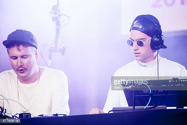 Travis Stewart and Jimmy Edgar of JETS perform on stage on day 1 of Sonar Music Festival on June 18 2015 in Barcelona Spain