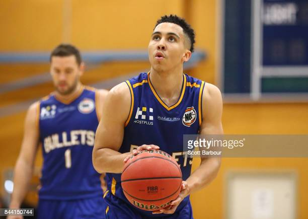 Travis Trice of the Brisbane Bullets controls the ball during the 2017 NBL Blitz preseason match between the Sydney Kings and the Brisbane Bullets at...