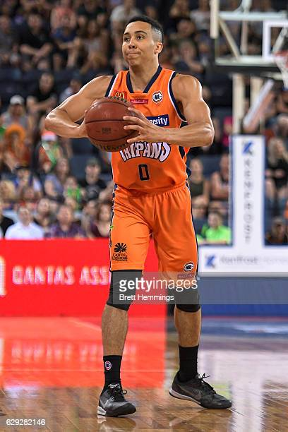 Travis Trice of the Taipans looks to pass the ball during the round 10 NBL match between the Cairns Taipans and the Adelaide 36ers at Cairns...