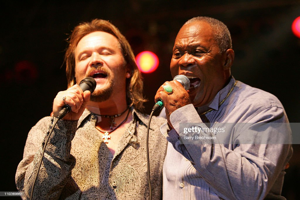 Travis Tritt and Sam Moore during 20th Annual SXSW Film and Music Festival Sam Moore at Town Lake Stage at Auditorium Shores in Austin Texas United...