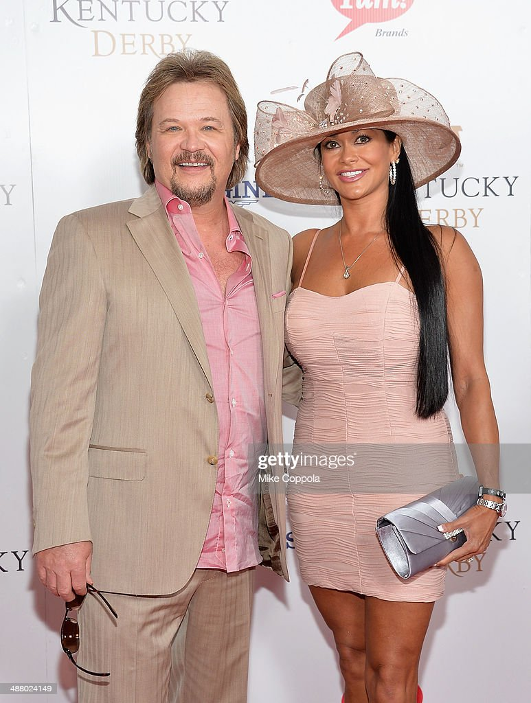 Travis Tritt (L) and Theresa Nelson attend 140th Kentucky Derby at Churchill Downs on May 3, 2014 in Louisville, Kentucky.