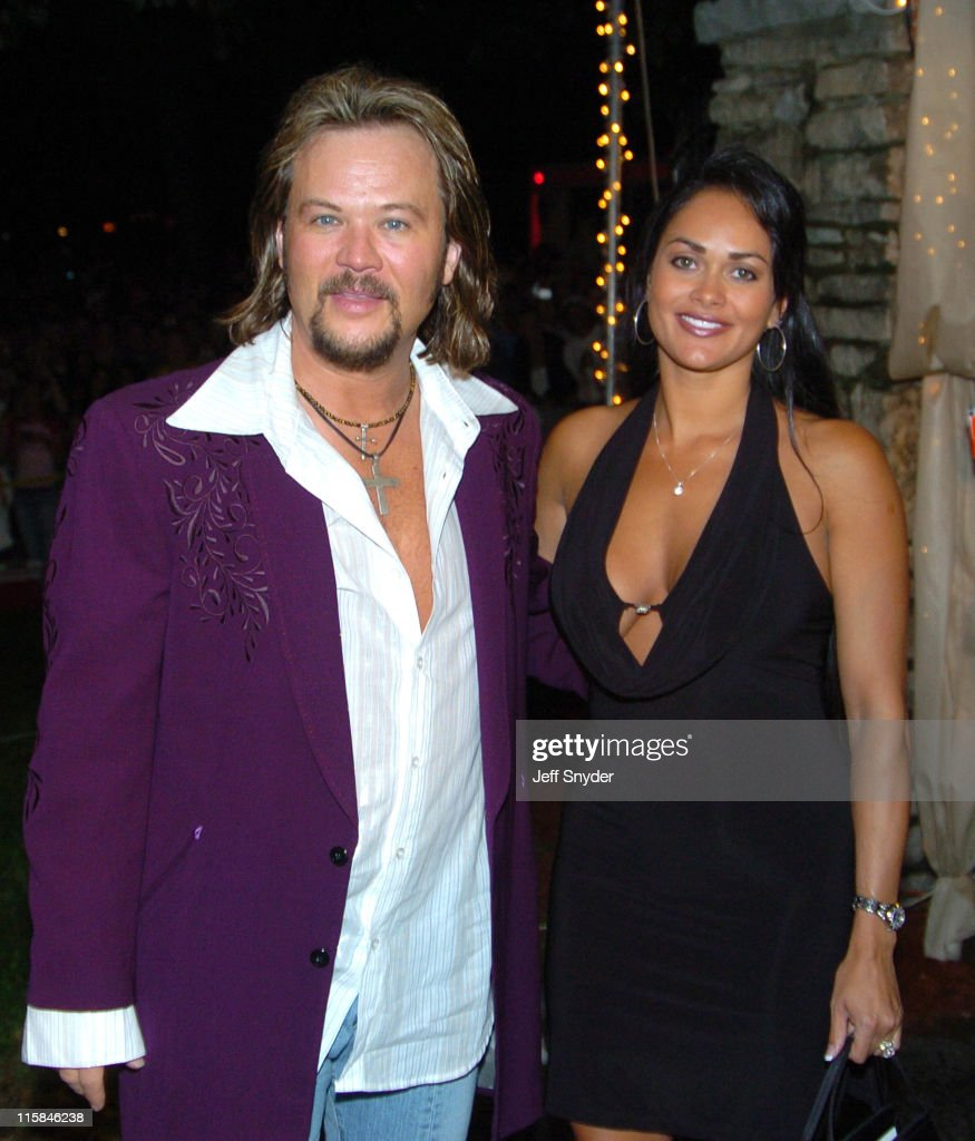 Travis Tritt and wife during The Barnstable Brown Party at Private Residence in Louisville KY