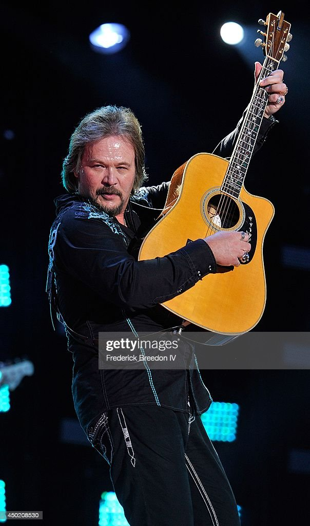 Travis Tritt performs at LP Field at the 2014 CMA Festival on June 6 2014 in Nashville Tennessee