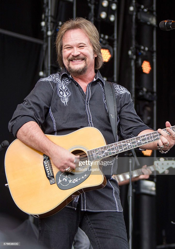 Travis Tritt performs during Faster Horses Festival at Michigan International Speedway on July 16 2016 in Brooklyn Michigan