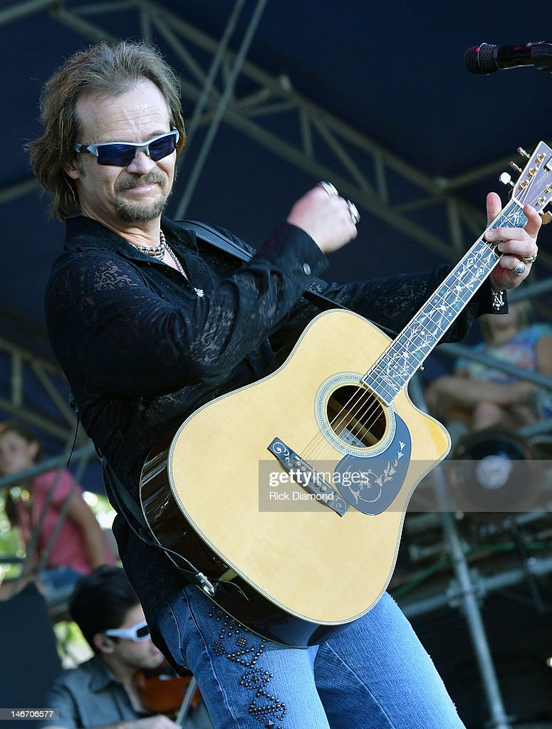 Travis Tritt performs during the 2012 Country Stampede Day 2 at Tuttle Creek State Park on June 22 2012 in Manhattan Kansas