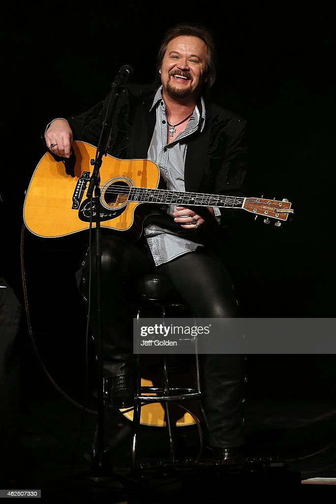 Travis Tritt performs on his 'An Acoustic Evening With Travis Tritt' Tour at Fred Kavli Theatre on January 29 2015 in Thousand Oaks California