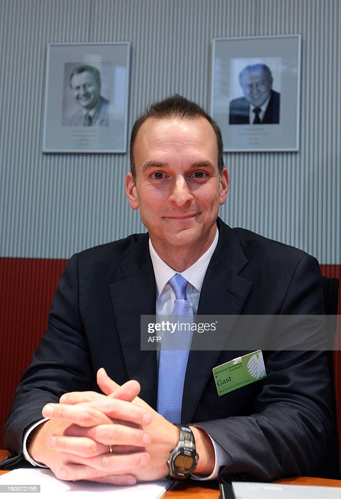Travis Tygart, chief executive officer of the US Anti-Doping Agency (USADA), speaks at the Bundestag (lower house of parliament) in Berlin on January 30, 2013. Tygart was expected to address the sports committee of Germany's Bundestag to give an insight into how USADA brought down cycling star Lance Armstrong.