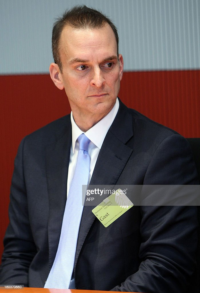 Travis Tygart, chief executive officer of the US Anti-Doping Agency (USADA), arrives to speak at the Bundestag (lower house of parliament) in Berlin on January 30, 2013. Tygart was expected to address the sports committee of Germany's Bundestag to give an insight into how USADA brought down cycling star Lance Armstrong.