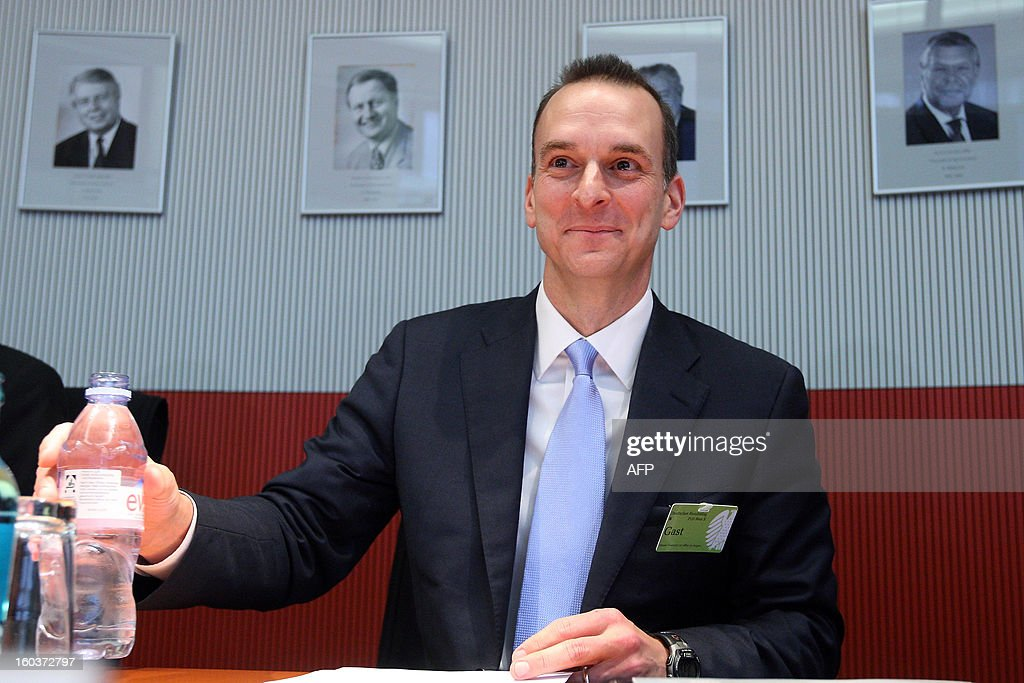 Travis Tygart, chief executive officer of the US Anti-Doping Agency (USADA), waits to speak at the Bundestag (lower house of parliament) in Berlin on January 30, 2013. Tygart was expected to address the sports committee of Germany's Bundestag to give an insight into how USADA brought down cycling star Lance Armstrong.