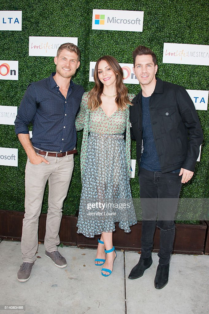 <a gi-track='captionPersonalityLinkClicked' href=/galleries/search?phrase=Travis+Van+Winkle&family=editorial&specificpeople=740747 ng-click='$event.stopPropagation()'>Travis Van Winkle</a>, <a gi-track='captionPersonalityLinkClicked' href=/galleries/search?phrase=Katharine+McPhee&family=editorial&specificpeople=581492 ng-click='$event.stopPropagation()'>Katharine McPhee</a>, and Andy Grammar arrive at the 2nd Annual LoveLife Fundraiser to support buildOn hosted by <a gi-track='captionPersonalityLinkClicked' href=/galleries/search?phrase=Travis+Van+Winkle&family=editorial&specificpeople=740747 ng-click='$event.stopPropagation()'>Travis Van Winkle</a> at the Microsoft Lounge on March 6, 2016 in Venice, California.