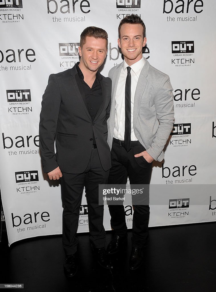 Travis Wall and Dom Palange attend 'BARE The Musical' Opening Night at New World Stages on December 9, 2012 in New York City.