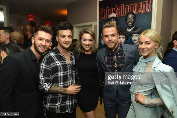 Travis Wall Mark Ballas BC Jean Derek Hough and Julianne Hough attend the 2017 Entertainment Weekly PreEmmy Party at Sunset Tower on September 15...