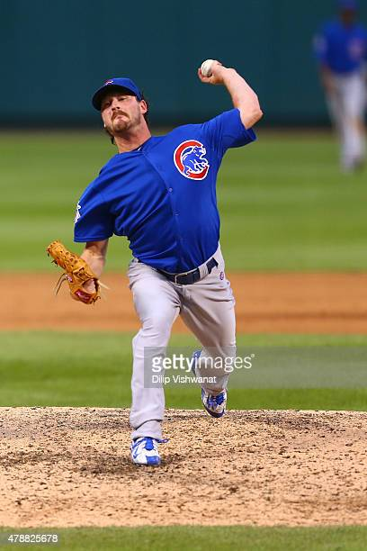 Travis Wood of the Chicago Cubs pitches against the St Louis Cardinals in the fifth inning at Busch Stadium on June 27 2015 in St Louis Missouri