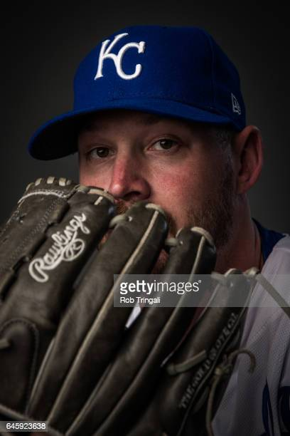 Travis Wood of the Kansas City Royals poses for a portrait at the Surprise Sports Complex on February 20 2017 in Surprise Arizona