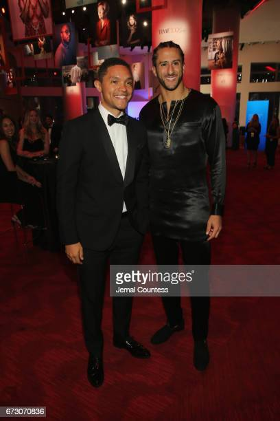 Travor Noah and Colin Kaepernick attend the 2017 Time 100 Gala at Jazz at Lincoln Center on April 25 2017 in New York City