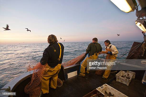trawler fishing at night