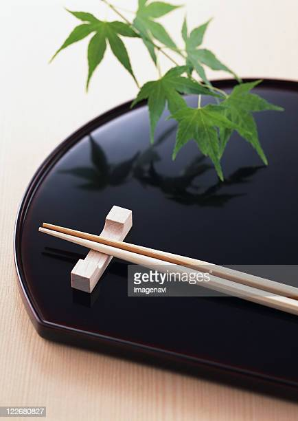 Tray and chopsticks