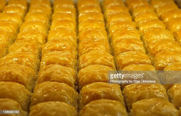 Tray of baklava