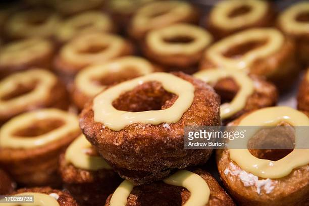 A tray of croissantdoughnut hybrids known 'cronuts' are seen at Dominique Ansel Bakery on June 10 2013 in New York City The bakery makes 200250 of...
