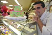 02/16/10 Helayne Seidman FTWP Hoboken New Jersey Cake boss Buddy Valastro of Carlo's Bakery shown in the retail store He is the subject of a TLC...