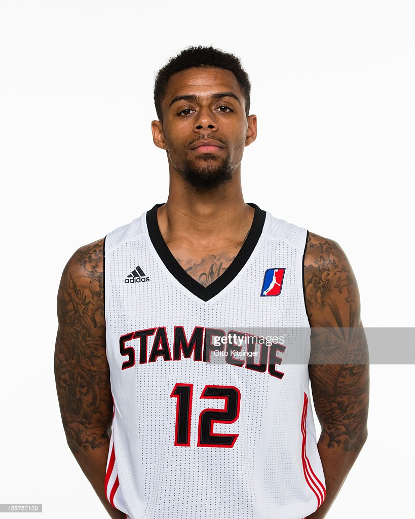 Tre Bussy of the Idaho Stampede poses for a portrait during Media Day on November 9 2014 at CenturyLink Arena in Boise Idaho NOTE TO USER User...